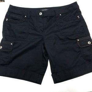 White House Black Market Black Cuffed Shorts WHBM